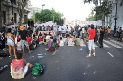 Demo an der Plaza de Mayo