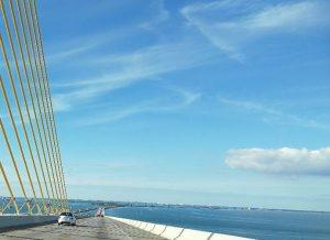 Die Sunshine Skyway Bridge.