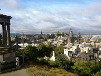 Blick vom Calten Hill auf die Stadt