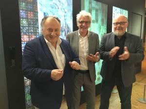 Prof. Weibel, Klaus Hoffmann und Martin Wacker (v.l.).
