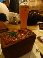 Russian Goulash and a German-style wheat beer - a great way to end a long day