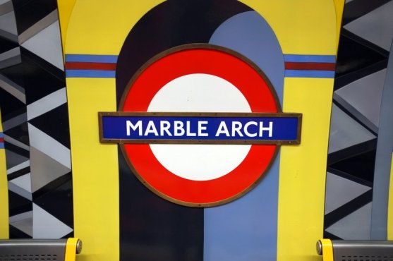 Marble Arch Tube Station Schild