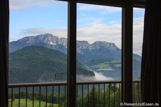 Ausblick vom Executive Panorama Studio im Intercontinental Berchtesgaden Resort