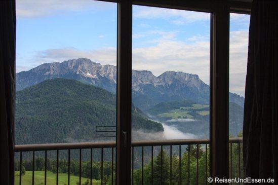 Ausblick vom Executive Panorama Studio im Intercontinental Berchtesgaden Resort