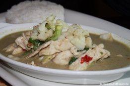 Schweinefleisch in Curry im Thai-Restaurant in Kapstadt