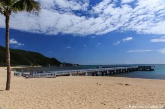 Strand in der Bucht Xiao Dadonghai