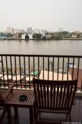 Blick vom Hotelzimmer auf Chao Phraya
