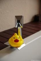 Badeente auf unserer Badewanne