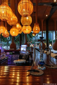 Wasserpfeife in der Bar im InterContinental in Sanya