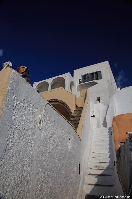 Treppen zu einer Villa