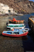 Boote in der Bucht von Armeni