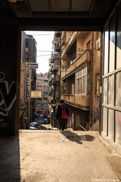 Gasse in Belgrad