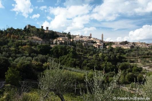 Blick auf Montalcino