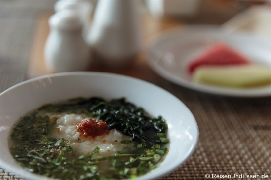 Brei beim Frühstück im Hotel Santika Premiere Gubeng Surabaya