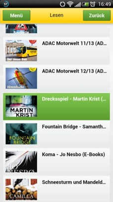 ADAC Postbus Media Center Bereich Lesen