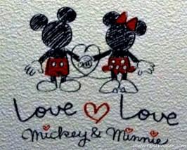 Mickey & Minnie Love Tapete im Hostel