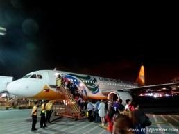 Flug zurück nach Manila
