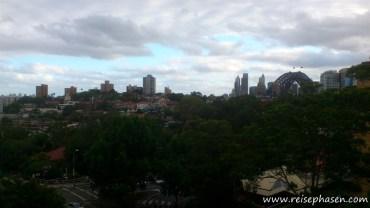 Sydney Skyline vom Balkon