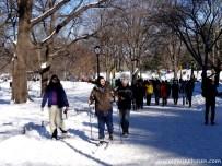Central Park, Langlauf & Schneeschuhwanderung ;-)