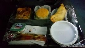 danach gab es Abendessen im Bus