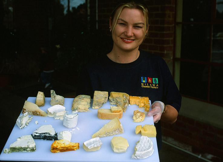 Käse gehört zu den Spezialitäten von Milawa