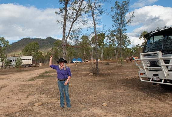 Eureka Creek Rodeo: Peitschen-Training