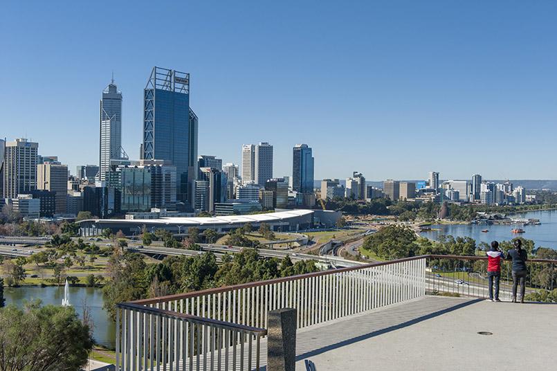 Perth: Blick auf den CBD vom Kings Park