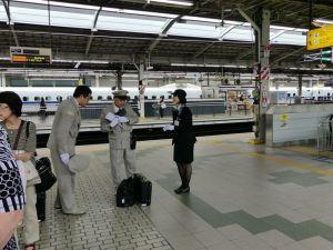 Personal im Shinkansen