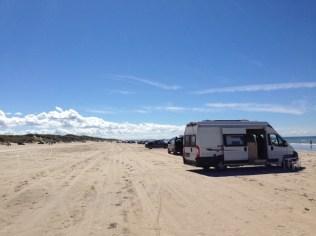 Dänemark Strand Kastenwagen