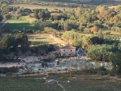 Blick auf die Cascate del Mulino