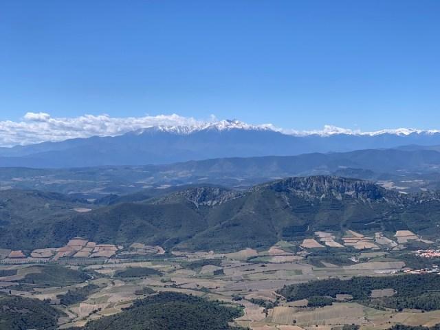 Blick auf die Pyrenäen