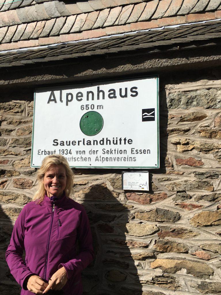hoch oben auf der Sauerland-Hütte , 650 m über dem Meer
