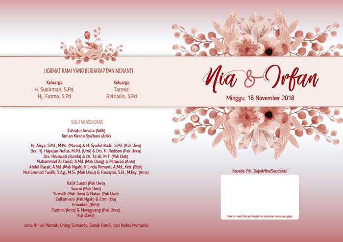 Diy By Reisha Desain Undangan Pernikahan Dan Buku Tamu Nia Irfan