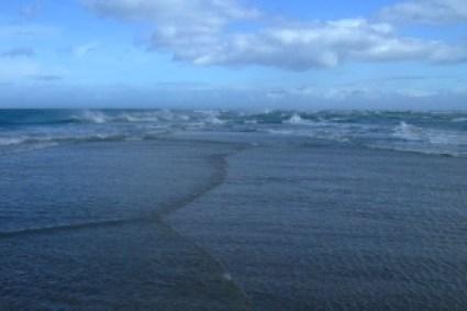 Bij Grenen komen 2 zeeën samen