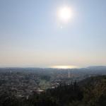 Uitzicht op zee Athene
