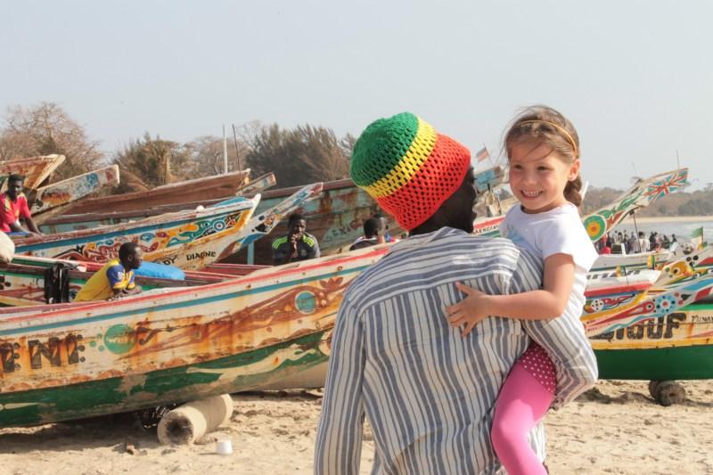 De vismarkt in Tanji met onze Gambiaanse vriend