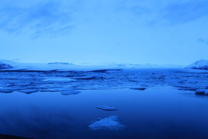 Het gletsjermeer bij Jökulsárlón