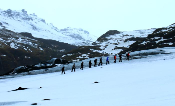 Hiken op de gletsjer