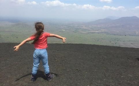 Op de Cerro Negro vulkaan