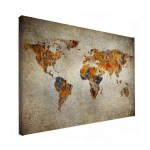 WINACTIE! Win een grote wereldkaart op canvas t.w.v. €119,95!