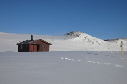 Hut in Noorwegen in de winter