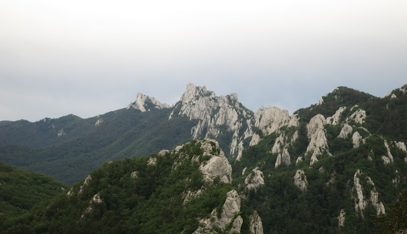 Velebit hiking trail mountains