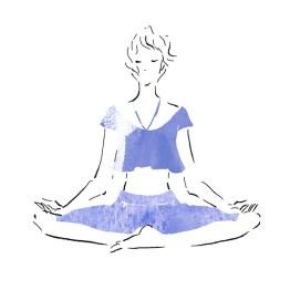 ヨガ あぐら 座禅 ポーズ スカーサナ yoga sukhasana pose ピラティス エクササイズ ダイエット プロセスカット イラスト 女性 ファッション 広告 web  美容  イラストレーター イラストレーション おしゃれ illustration fashionillustration woman illustrator イラストレーターreism・i(リズム)