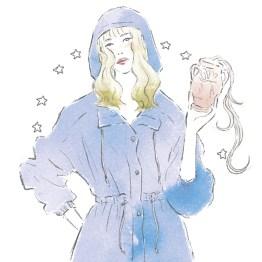 12星座 水瓶座 占い 占星術 イラスト 女性 ファッション 広告 web  美容  イラストレーター イラストレーション おしゃれ mook本 女性誌 女性向けWEBメディア horoscope astrology illustration fashionillustration woman illustrator aquarius