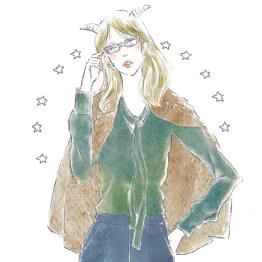 12星座 山羊座 占い 占星術 イラスト 女性 ファッション 広告 web  美容  イラストレーター イラストレーション おしゃれ mook本 女性誌 女性向けWEBメディア horoscope astrology illustration fashionillustration woman illustrator capricorn イラストレーターreism・i(リズム)