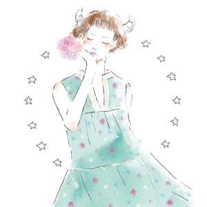 12星座 牡牛座 占い 占星術 イラスト 女性 ファッション 広告 web  美容  イラストレーター イラストレーション おしゃれ mook本 女性誌 女性向けWEBメディア horoscope astrology illustration fashionillustration woman illustrator taurus