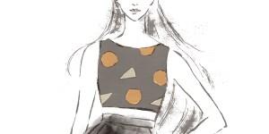 ドレスを着たモードな女性 イラスト 女性 ファッション 広告 web  美容  イラストレーター イラストレーション おしゃれ illustration fashionillustration woman 企業コラボ東京プロジェクト cniel European Union illustrator イラストレーターreism・i(リズム)