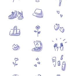 雑貨などのシンプルイラスト イラスト 女性向け ファッション 広告 web  美容  イラストレーター イラストレーション おしゃれ  コスメ メイク カットイラスト 挿絵 ファッションイラストレーション ライフスタイル クロシェハット 食べ物イラスト トートバッグ スニーカー 花 パンケーキ illustration fashionillustration illustrator イラストレーターreism・i(リズム)