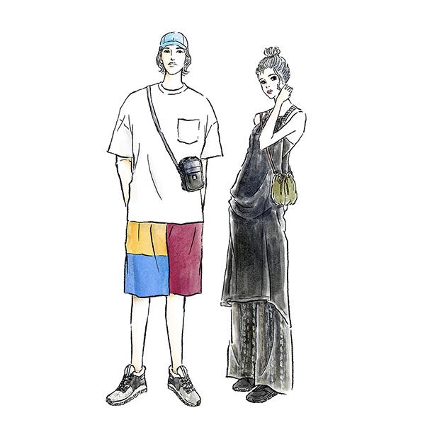 フェスコーデ SUMMER SONIC スイスのスニーカーブランドOnとのタイアップ記事 音楽 イラスト 女性 ファッション 広告 web  イラストレーター イラストレーション おしゃれ adobefresco anthurium illustration fashionillustration woman illustrator イラストレーターreism・i(リズム)