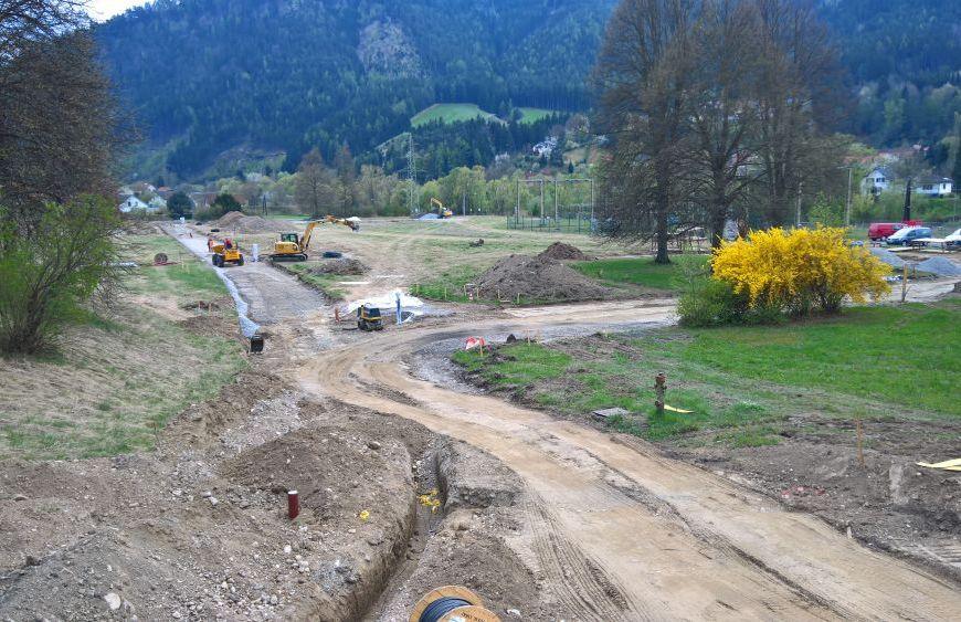 Infrastruktur für Bebauungsgebiet